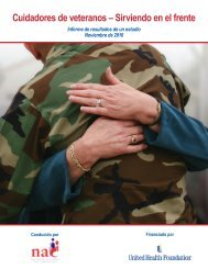 Cuidadores de veteranos - National Alliance for Caregiving