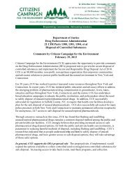 CCE Comments on DEA regulations for controlled substances