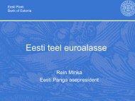 R.Minka. Eesti teel euroalasse (19.02.2010) (pdf) - euro.eesti.ee
