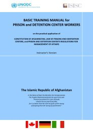 Basic Training Manual for Prison and Detention Center Workers