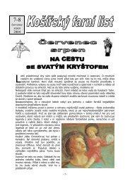 Červenec + Srpen 2004 (pdf) - Košířská farnost