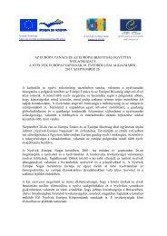 az európa tanács és az európai bizottság együttes nyilatkozata a ...