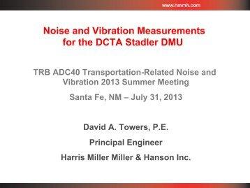 Noise and Vibration Measurements for the DCTA Stadler ... - HMMH