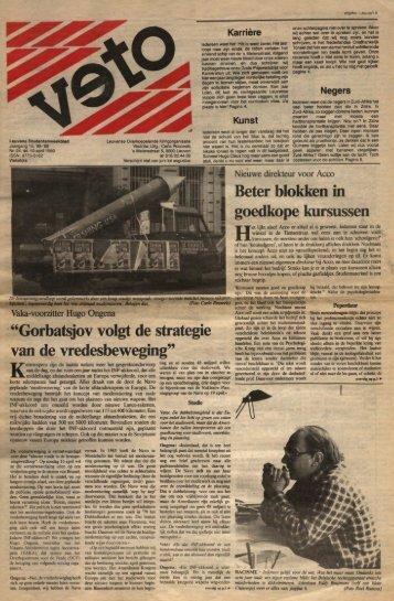 """""""Gorbatsjov volgt de strategie van de ... - archief van Veto"""