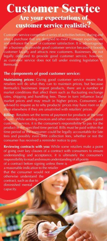 Customer Service Guide - Consumer Affairs Bermuda