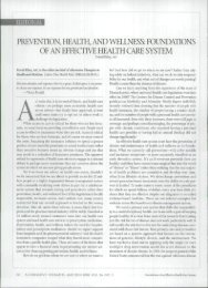 PREVENTION, HEALTH, AND WELLNESS - Hoffman Centre for ...