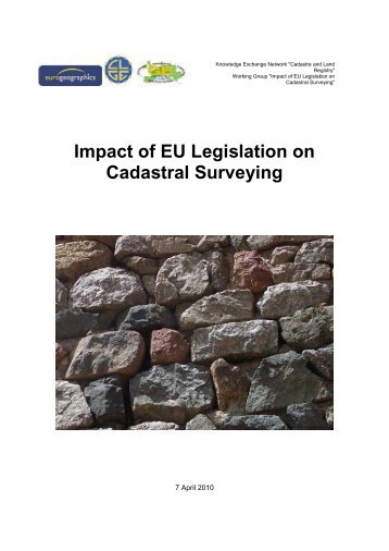 Impact of EU Legislation on Cadastral Surveying - CLGE
