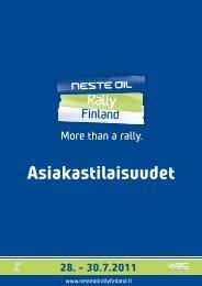 Asiakastilaisuudet - Neste Oil Rally Finland