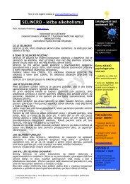 SELINCRO - léčba alkoholismu - Psychotesty