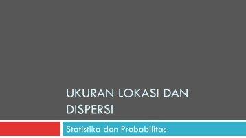 SDP03 Ukuran Lokasi dan Dispersi - istiarto