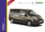 Peugeot Eurobus Taxi - Cab Direct