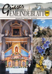 Jahrgang 20 - Nummer 1 - April 2010