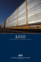 TENDANCES FERRoviAiRES - Railway Association of Canada
