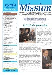 11/2004 Sommario Mission - FeDerSerd
