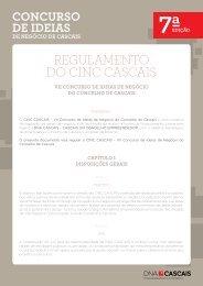 REGULAMENTO DO CINC CASCAIS - DNA Cascais