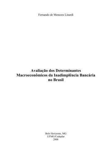 Avaliação dos Determinantes Macroeconômicos da ... - UFMG