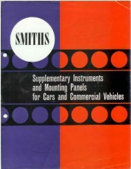 Supplementary Instruments and Mounting Panels - MK1 ...