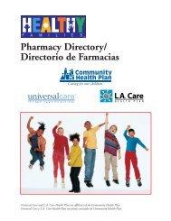 Pharmacy Directory/ Directorio de Farmacias - Los Angeles County ...