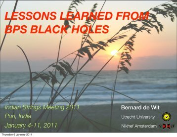 LESSONS LEARNED FROM BPS BLACK HOLES