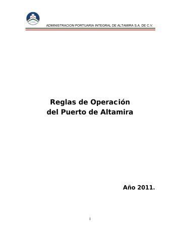 Reglas de Operación del Puerto de Altamira
