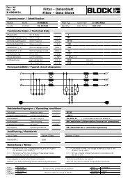 Filter - Datenblatt Filter – Data Sheet - Crompton Controls