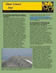 current newsletter - Department of Plant Sciences & Plant Pathology ...