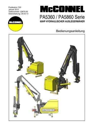 PA5360 & PA5860 Series - GERMAN Operator Manual - McConnel