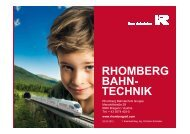 Rhomberg Bahntechnik - TÜV Austria Akademie