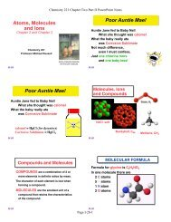 PowerPoint Notes - MhChem Chemistry with Dr. Michael Russell