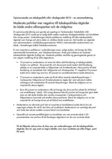 Här finns en sammanfattning av studien i pdf - Tobaksfakta
