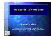 Odpojování od UPV - Česká společnost anesteziologie, resuscitace ...
