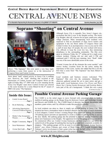 July 2005 Central Avenue Newsletter (PDF 1.37mb)