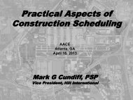 Practical Aspects of Construction Scheduling - Atlanta Area Section