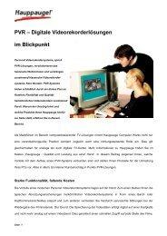 PVR – Digitale Videorekorderlösungen im Blickpunkt - Hauppauge