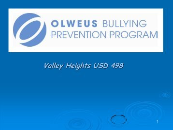Valley Heights Bully Prevention Information - Valley Heights USD 498