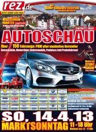 REZ Autoschau 2013 - Flyer