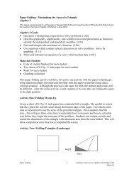 Paper Folding: Maximizing the Area of a Triangle