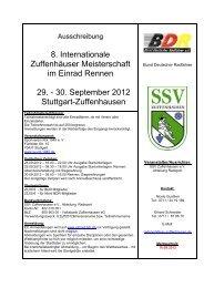 8. Internationale Zuffenhäuser Meisterschaft im Einrad Rennen 29 ...