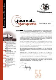 Le journal des transports - N°55 - ORT PACA