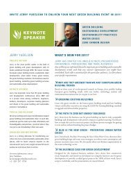 KEYNOTE SPEAKER - Green Build Consulting