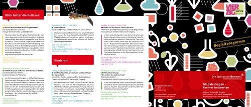 Rahmenprogramm 40 Jahre Universität Bremen - Der ...