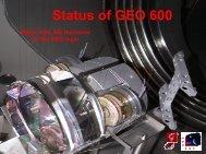 The Status of GEO600