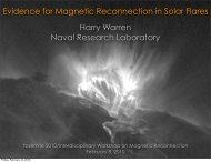 Evidence for Magnetic Reconnection in Solar Flares Harry Warren ...