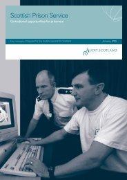 Scottish Prison Service: Correctional opportunities ... - Audit Scotland