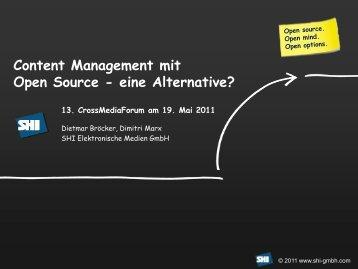 Content Management mit Open Source - eine Alternative?