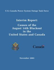 Blackout Report - Electricity Market and Policy
