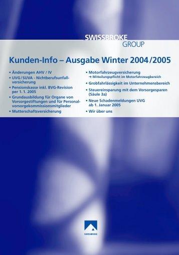 Ausgabe Winter 2004/2005 - swissbroke