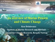An overview of marine processes and climate change