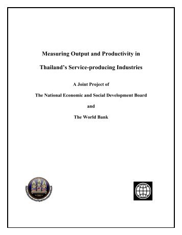 Measuring Output and Productivity in Thailand's Service-producing ...