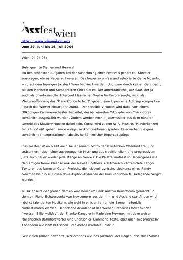 http://www.viennajazz.org vom 29. Juni bis 16. Juli 2006 Wien, 04.04 ...